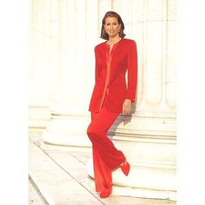 Escada Couture S/S 1994 Pant Suit in Red